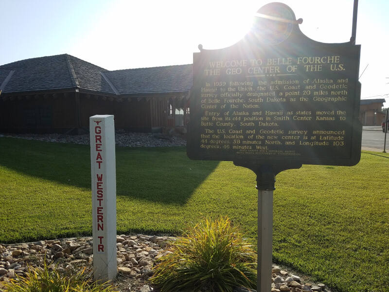 Belle Fourche - geo center of US marker