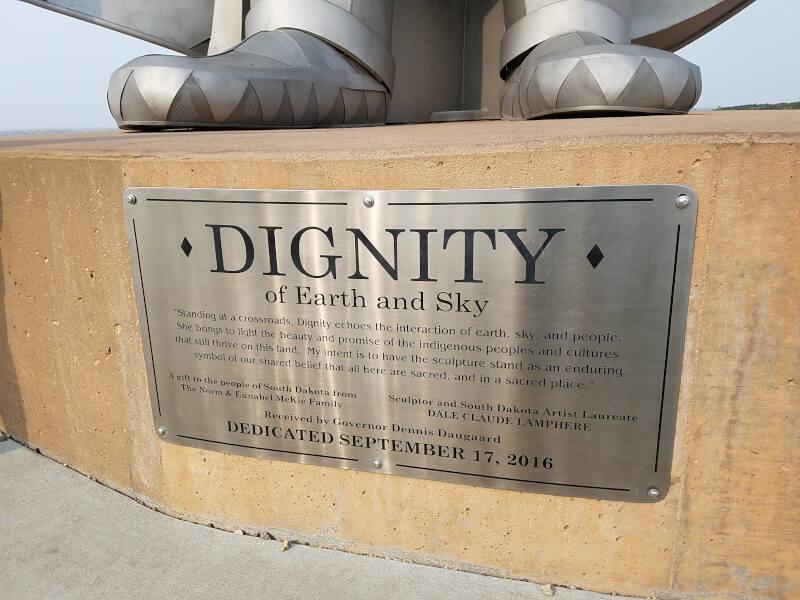 Dignity sculpture plaque
