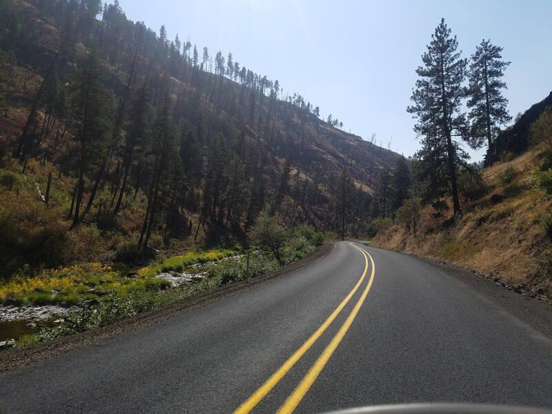 US 395 along Camas Creek