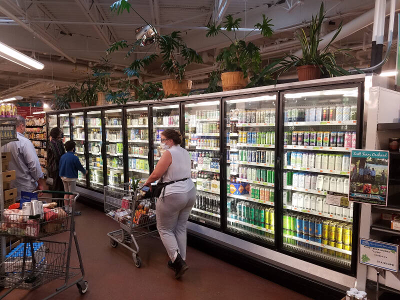 beer aisle at the Co-op