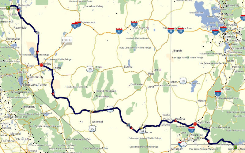 map of Day 4 route
