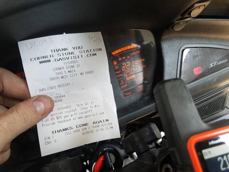 Missouri receipt