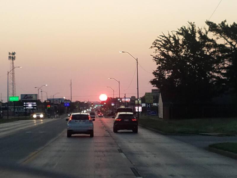 sunrise in Woodward OK