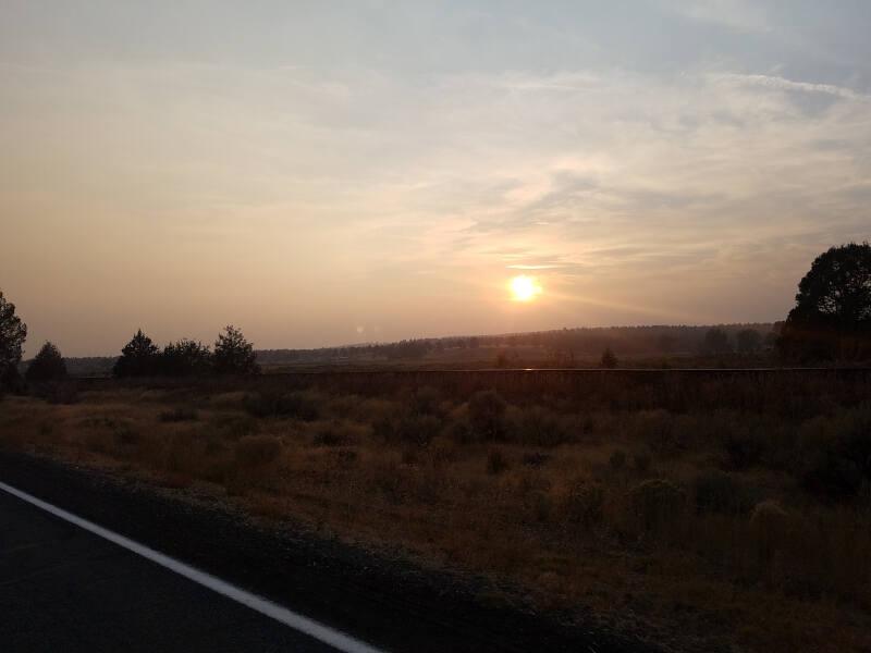 sunset near Alturas CA