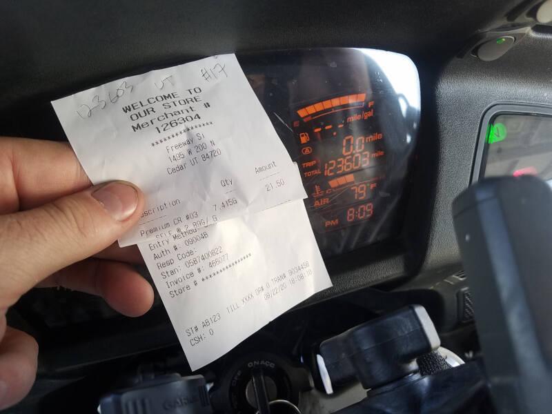 Utah receipt