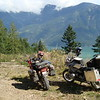 Early Saturday riding along the west side of Harrison Lake. Great views of this very large lake.