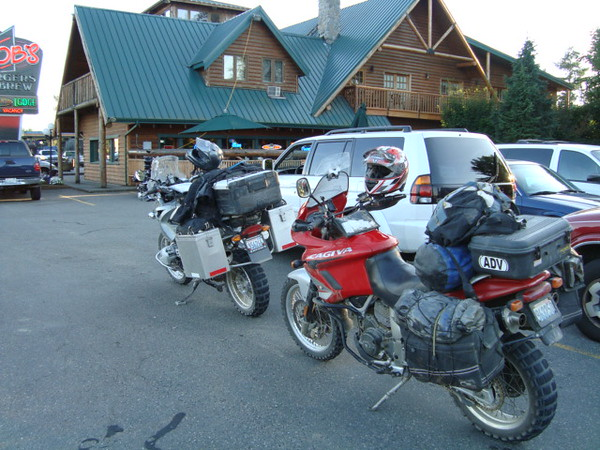 Too hungry and tired to stop for pictures we decided to not stop until the Sumas border and at this bar.  This was a great 2 night ride in some spectacular terrain.