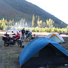 Saturday camp is at Laluwisson Creek recreation area just off of Hwy 12 & just north of Lytton BC.  Our camp is very primitive right on the dirt road in the recreation area; no organized camp spots, no tables, no running water, and no bathrooms.