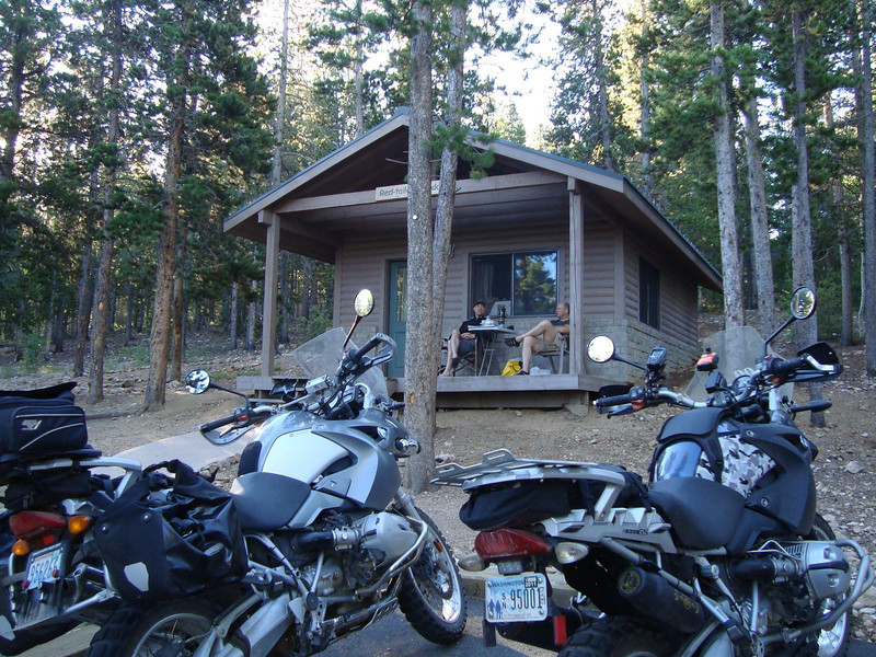 We move to a cabin.