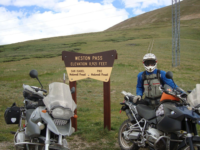 """Weston Pass with the Continental Divide trail directly behind the sign.  Whitney on the right <a href=""""http://www.traildamage.com/trails/index.php?id=110"""">http://www.traildamage.com/trails/index.php?id=110</a>"""