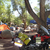 The Rawhide riders group camping and meetup area