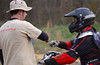 Kenny, one of the instructors, gives Cullen a fist bump.