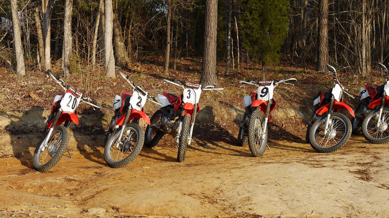 The school provided the bikes.  Jason and I rode 100 cc bikes, Cullen was on a 125.