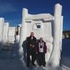 Bill & Martha Snow sculpture