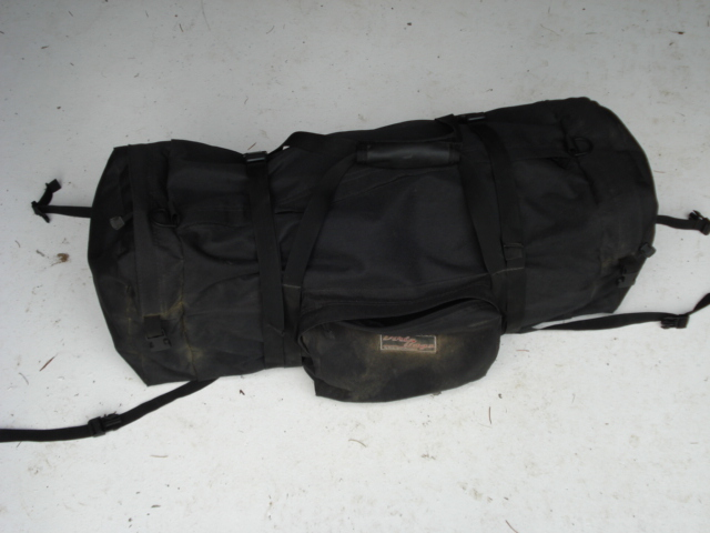 "Dirt-Bagz duffle I use on both dual sport bikes. Waterproof for low volume rain but not the heavy hitting long lasting storm rain. My favorite bag<br />  <a href=""http://www.dbzproducts.com/extras.htm"">http://www.dbzproducts.com/extras.htm</a>"