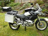 Pic displays the original black side panels the bike came new from the factory. Later I traded another gs owner my black for his grey panels.