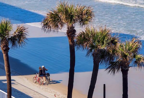 Bikers on the beach.
