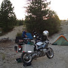 Bike camping along the trail is the best way to go.  Our 1st Camp will be along the trail  just south of Hwy 20 on WABDR section 5;  <br /> <br /> Since we are riding completely self-contained we can camp anywhere we can.