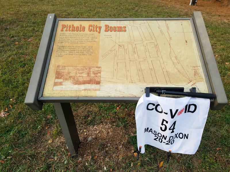 Pithole City interpretive sign