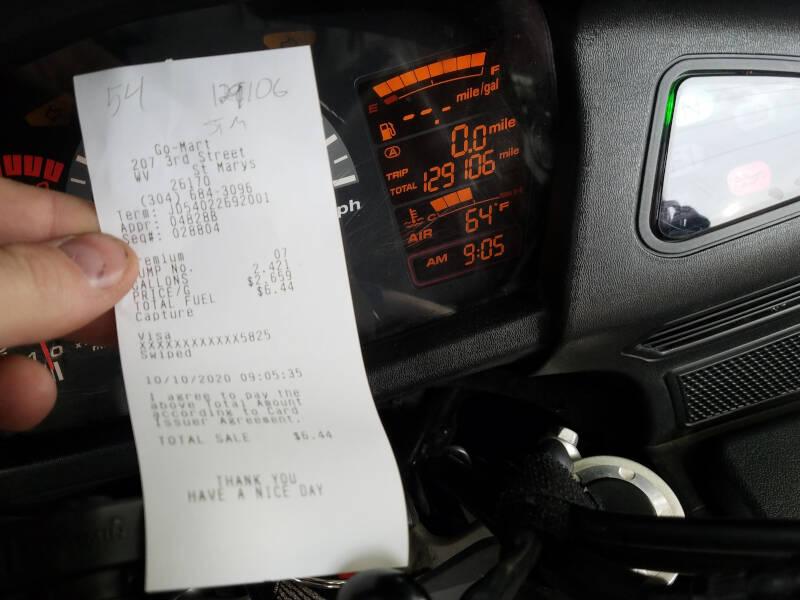 St Marys fuel receipt