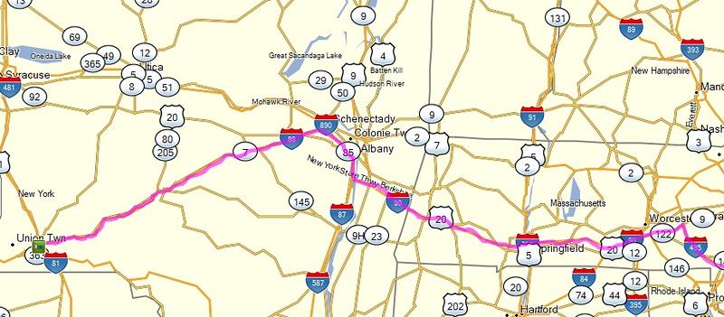 map to Binghamton