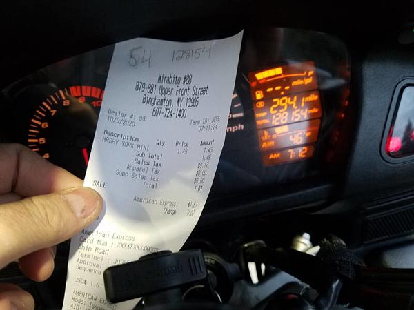 PATTY receipt