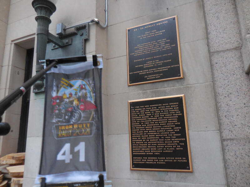 plaque for nations oldest bank building