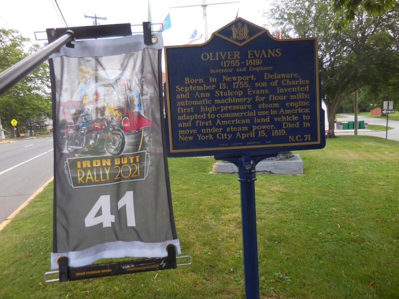 DE bonus - Oliver Evans historical marker