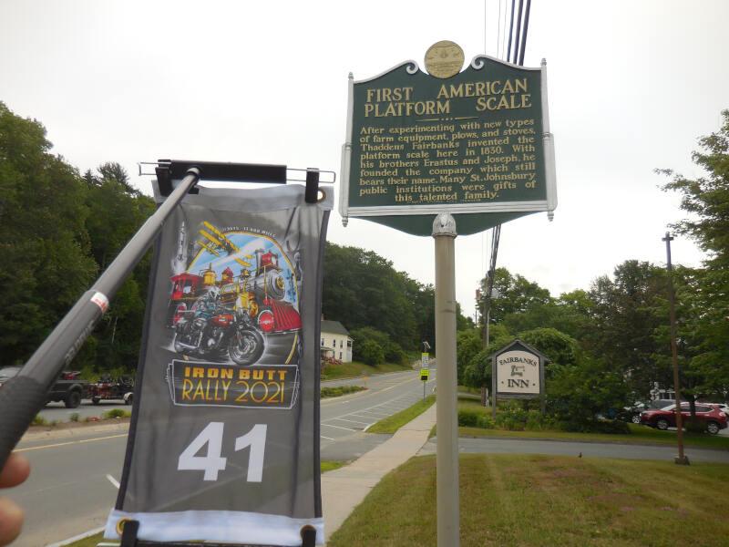 first platform scale historical marker