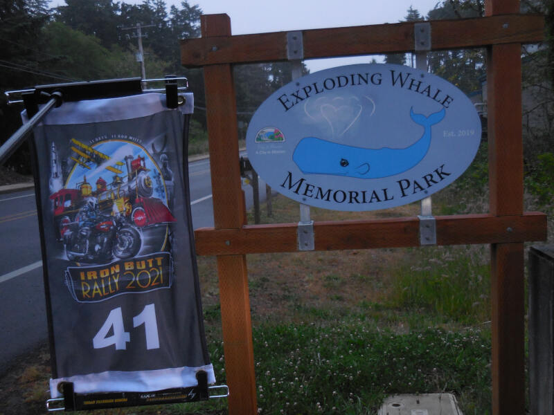 Exploding Whale State Park sign