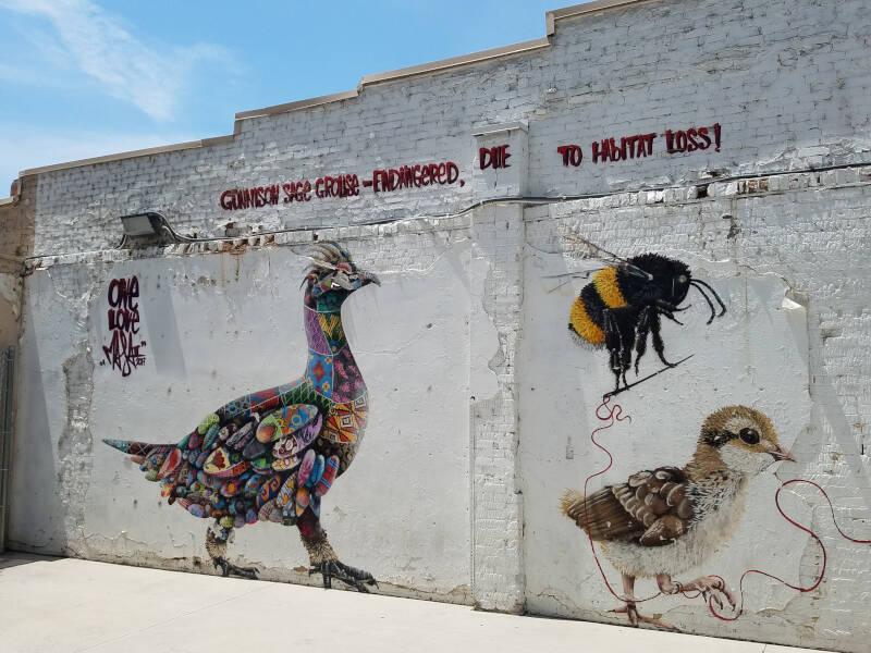 murals outside Sensuous Sandwich