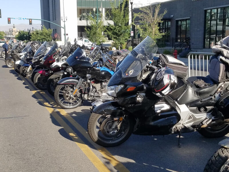 bikes lined up