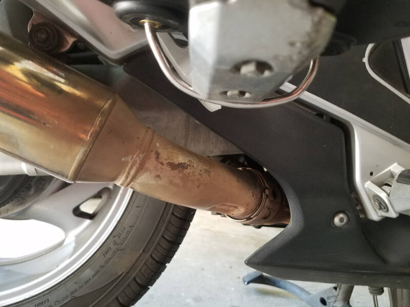 u-bolt mount underneath passenger peg