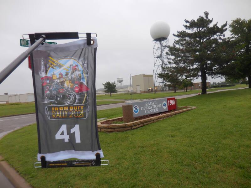 OK bonus - Radar sign with tower