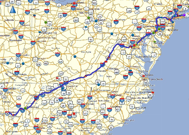 map of day 7 route