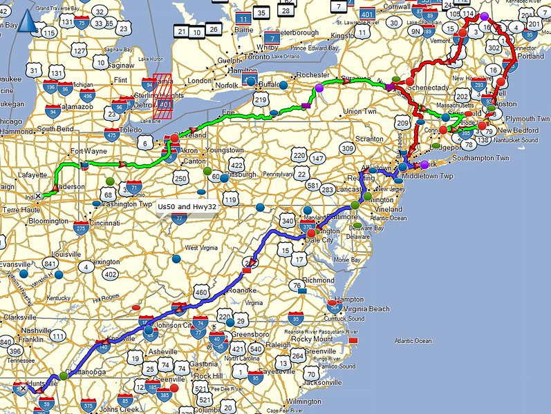 Leg 2 route map