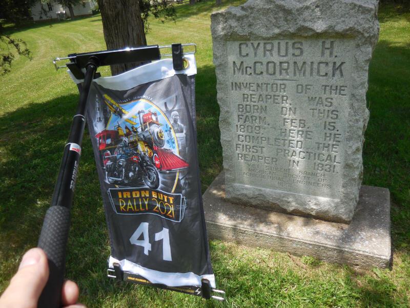 CYRUS bonus - granite marker for Cyrus H McCormick