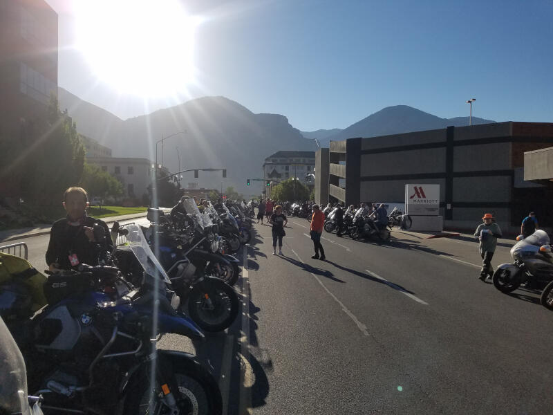 staging area at 08:00