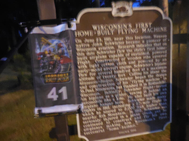 Wisconsin's First Flying Machine historical marker