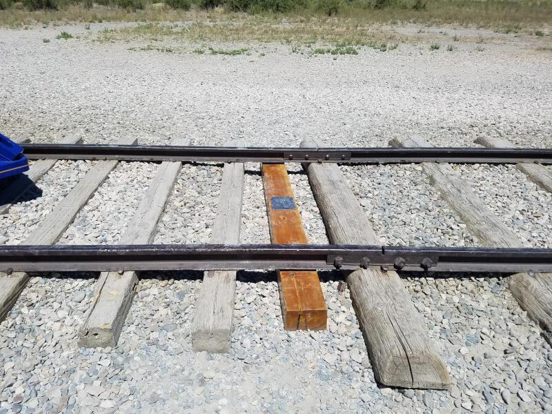 Golden Spike railroad tie