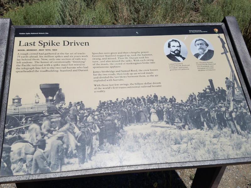 Last Spike Driven sign