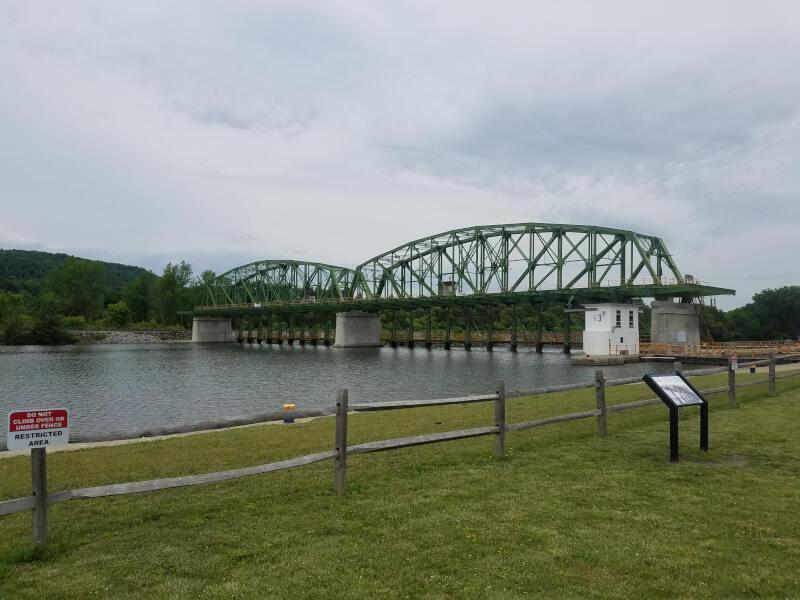 bridge and locks on Erie Canal