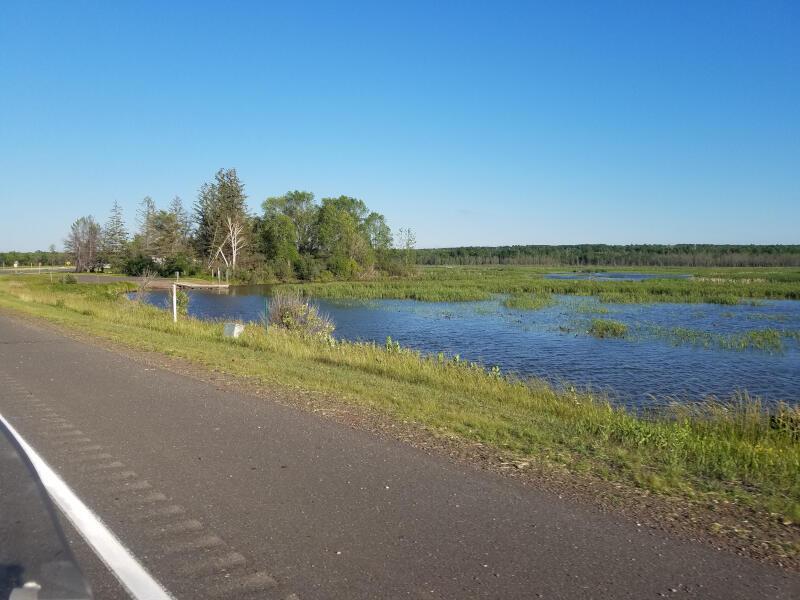 lake along the highway