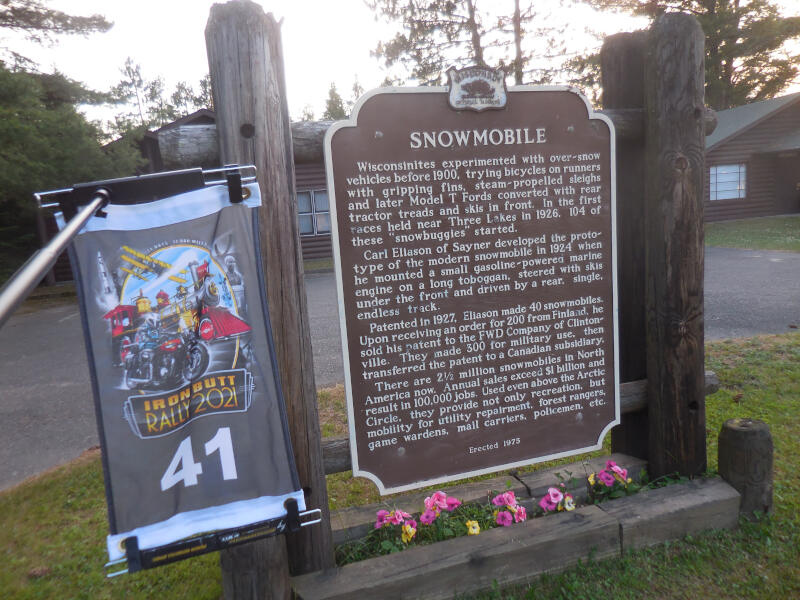 Snowmobile historical sign