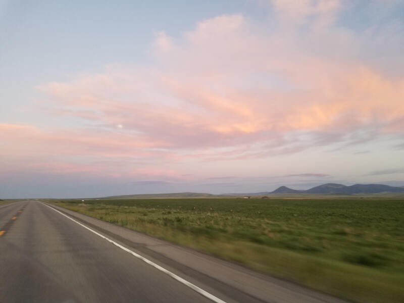 sunset clouds in Montana