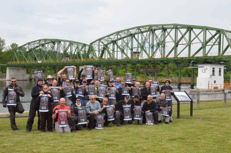 rider group photo by Erie Canal