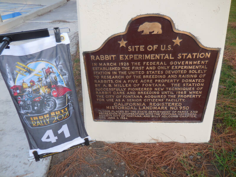 plaque for US Rabbit Experimental Station