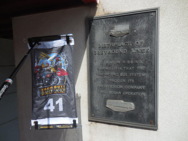 Birthplace of Greyhound Lines plaque