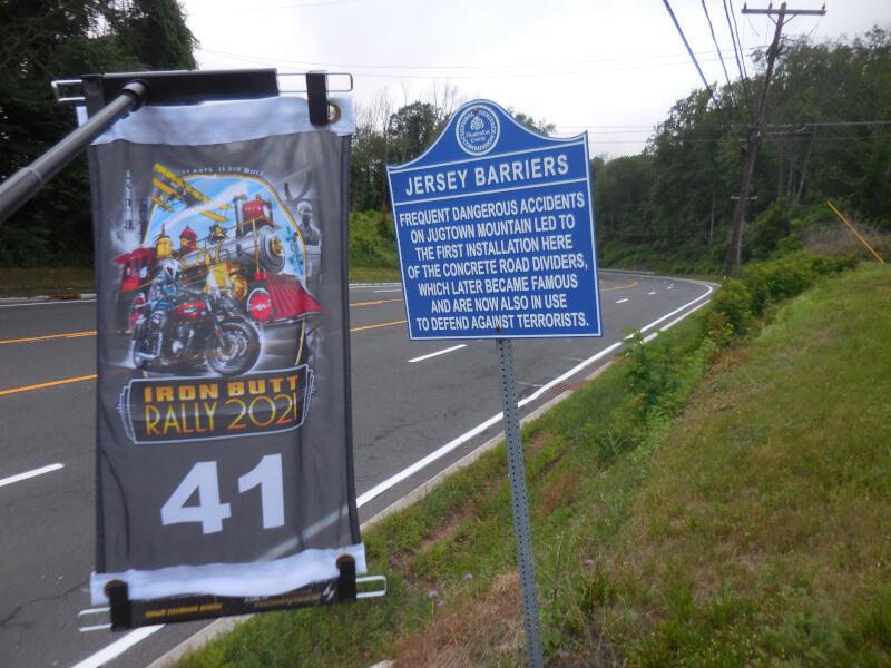 JERSEY bonus - Jersey barriers historical marker