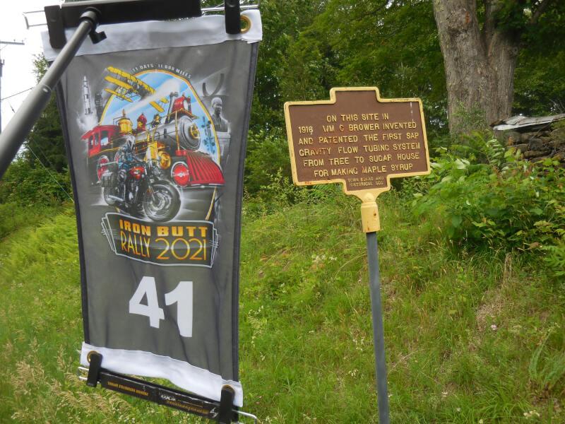 historical marker for first sap gravity flow tube system